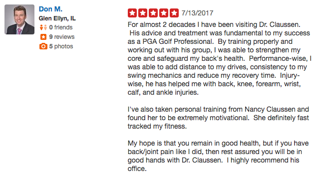 Review of Dr. Claussen