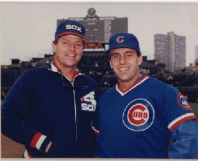 Dr. Philip Claussen_and Carlton Fisk