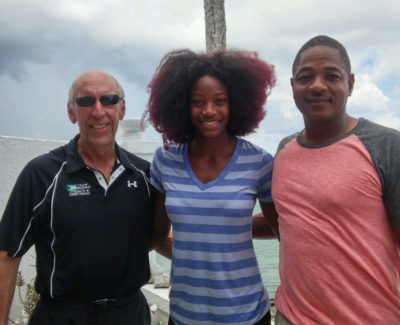 Oak Brook Chiropractor Dr. Philip Claussen with Olympic Gold Medalist 400m Shaunae Miller